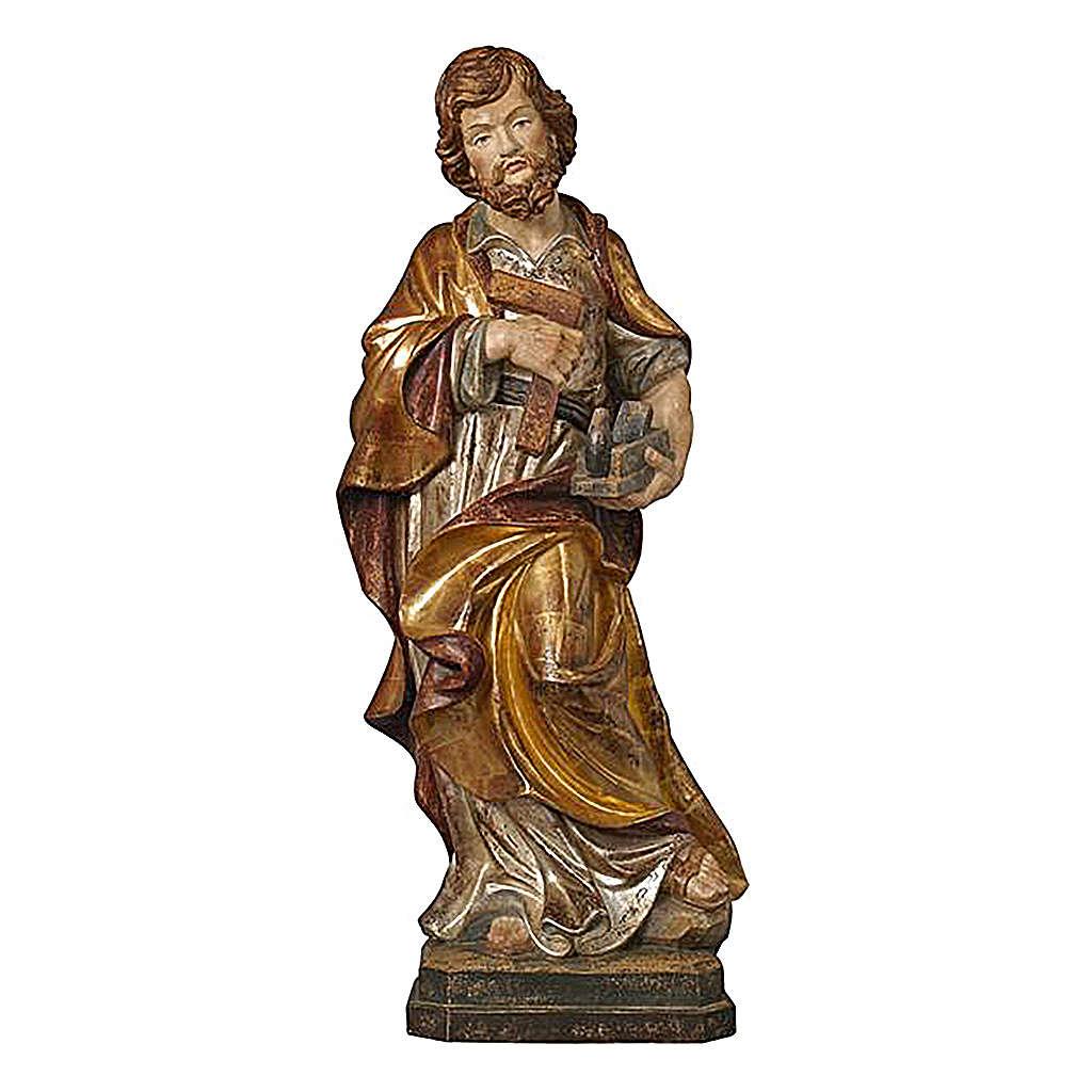 San Giuseppe artigiano oro zecchino antico e argento 4