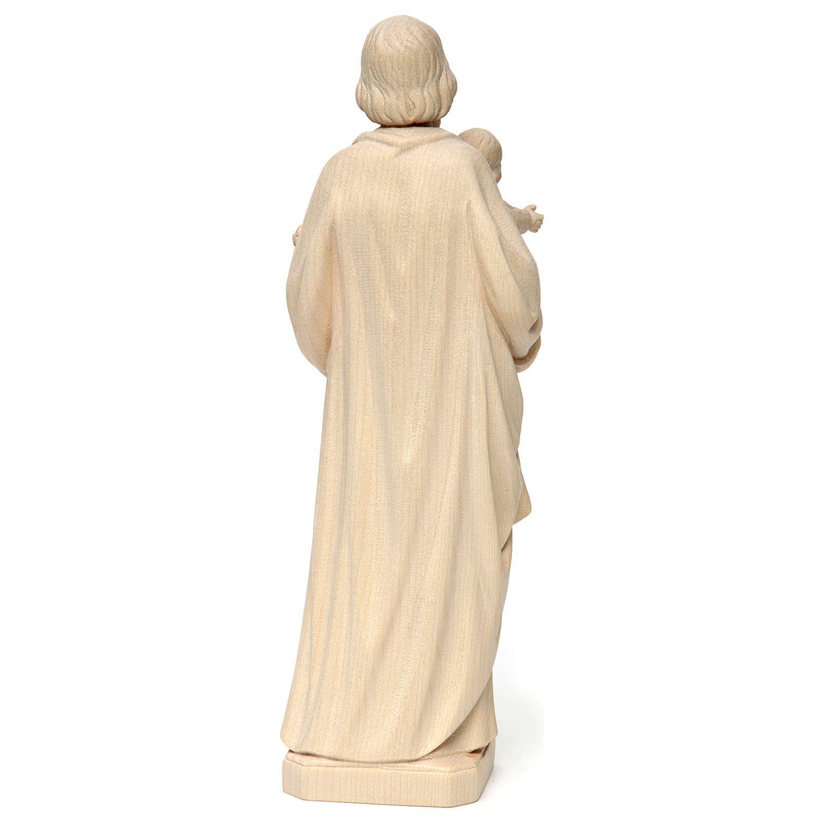 Saint Joseph avec Enfant réaliste bois naturel 4