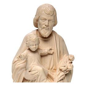 San Giuseppe con Bambino realistico legno naturale s2