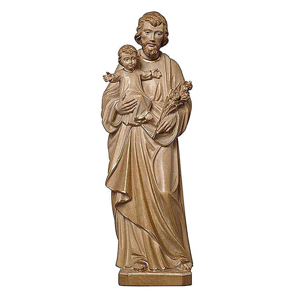 San Giuseppe con Bambino brunito 3 colori realistico 4