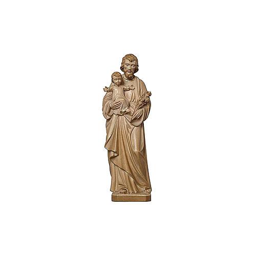 San Giuseppe con Bambino brunito 3 colori realistico 2