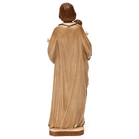 Saint Joseph with Baby Jesus statue burnished in three colours realistic style s5