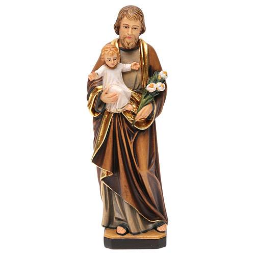 Estatua San José con Niño coloreado realístico