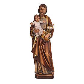 Statua San Giuseppe con Bambino colorato realistico s1