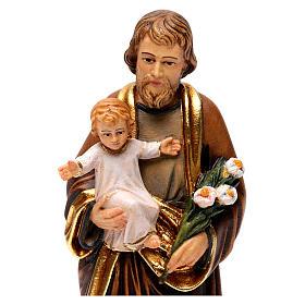 Statua San Giuseppe con Bambino colorato realistico s2