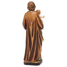 Statua San Giuseppe con Bambino colorato realistico s5