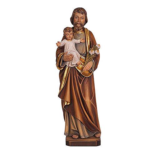 Statua San Giuseppe con Bambino colorato realistico 1