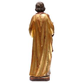 Saint Joseph avec Enfant réaliste or massif vieilli Val Gardena s5