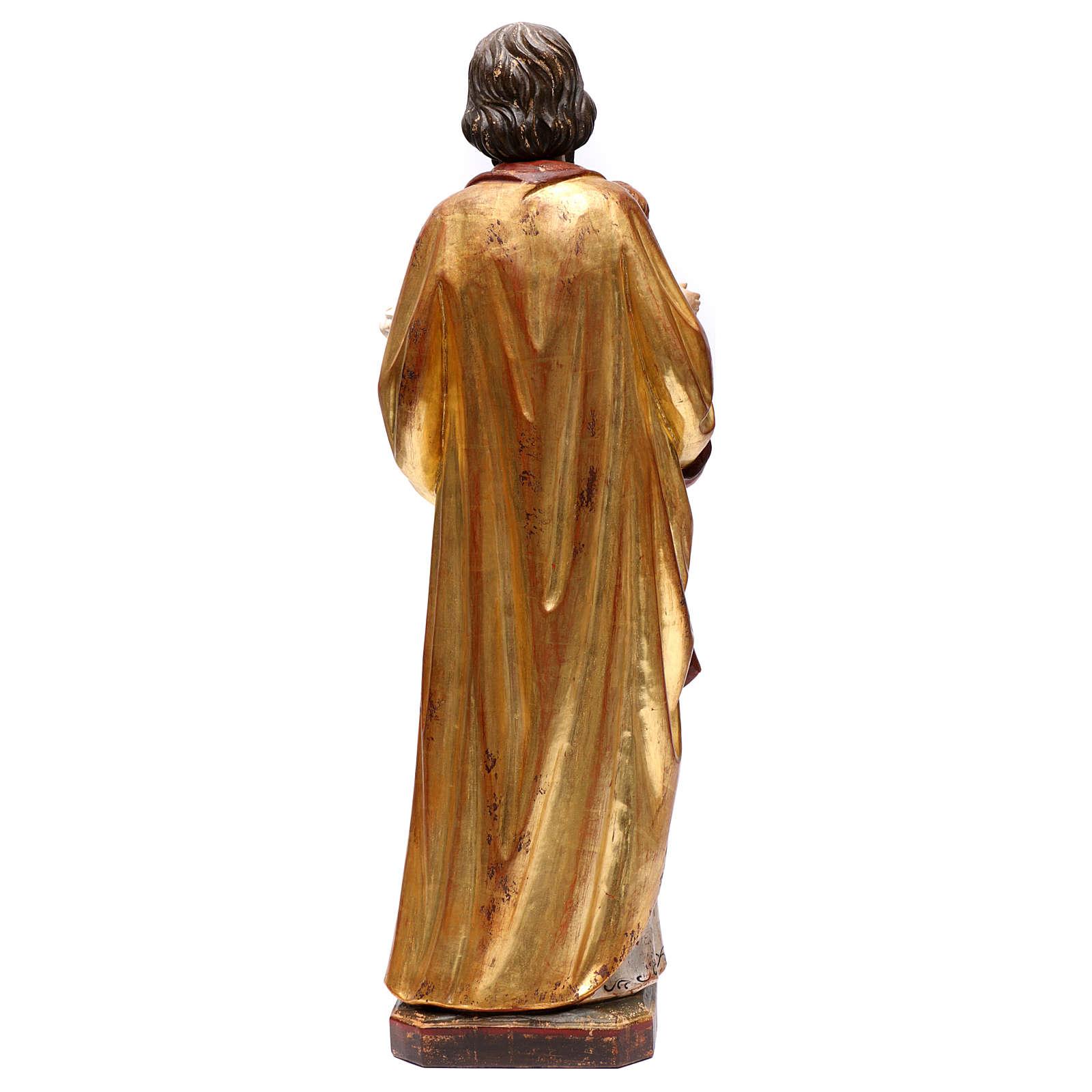 San Giuseppe con Bambino realistico oro zecchino antico Val Gardena 4