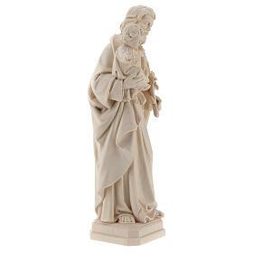 Statue Hl. Josef mit Jesus Kind Grödnertal Naturholz s4