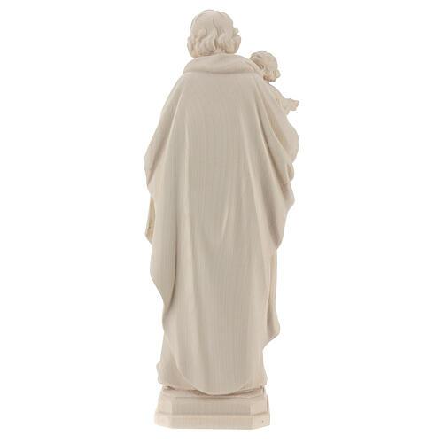 Statue Hl. Josef mit Jesus Kind Grödnertal Naturholz 5
