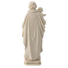 Statue Hl. Josef mit Jesus Kind Grödnertal Holz Wachs Finish s5