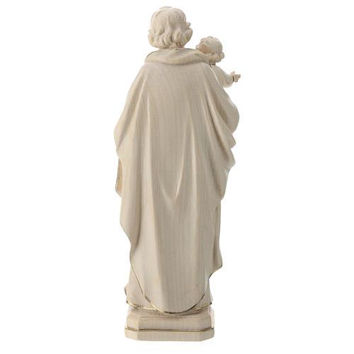 Statue Hl. Josef mit Jesus Kind Grödnertal Holz Wachs Finish 5