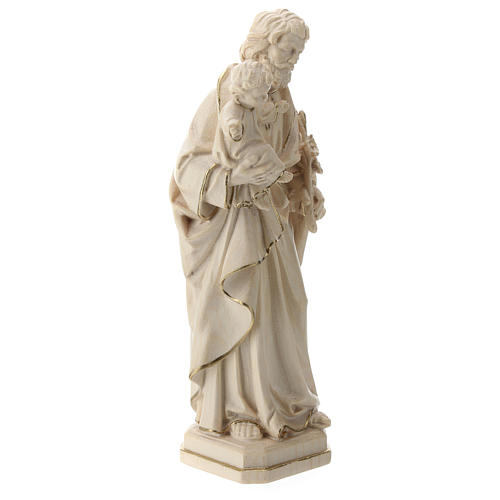 Saint Joseph and Baby Jesus statue in wax and gold thread Val Gardena 4