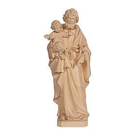San Giuseppe con Gesù cera filo oro Val Gardena s1