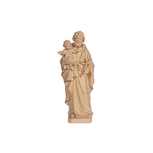 San Giuseppe con Gesù cera filo oro Val Gardena 2