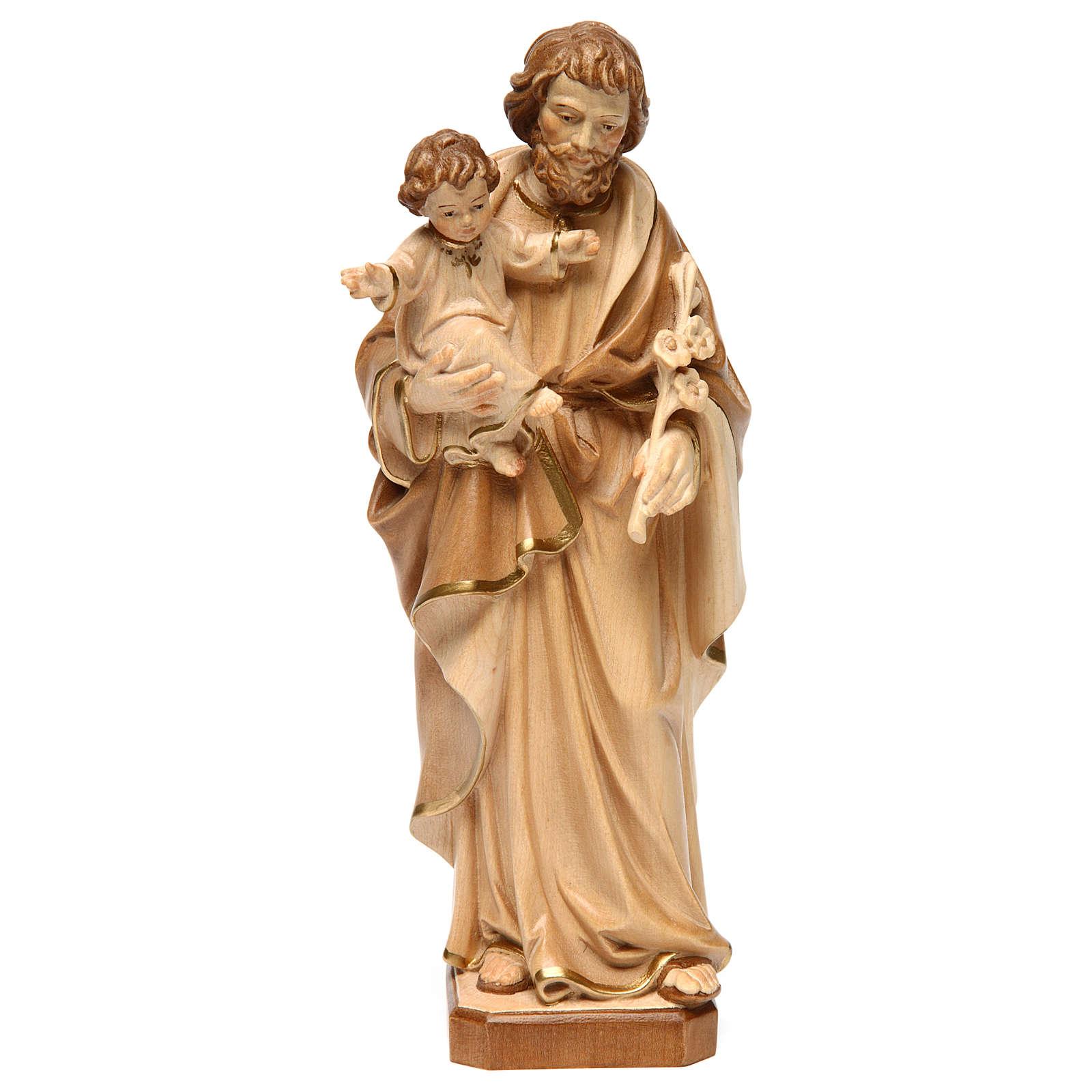 San Giuseppe con Bambin Gesù brunito 3 colori 4
