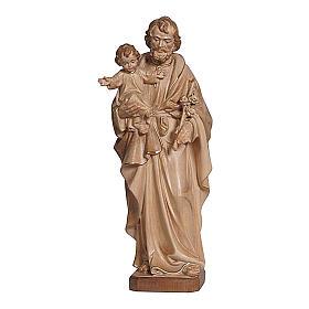 San Giuseppe con Bambin Gesù brunito 3 colori s1