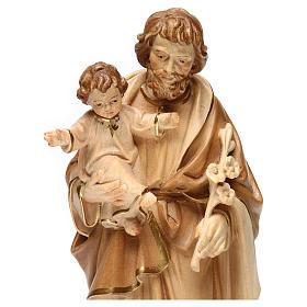 San Giuseppe con Bambin Gesù brunito 3 colori s2