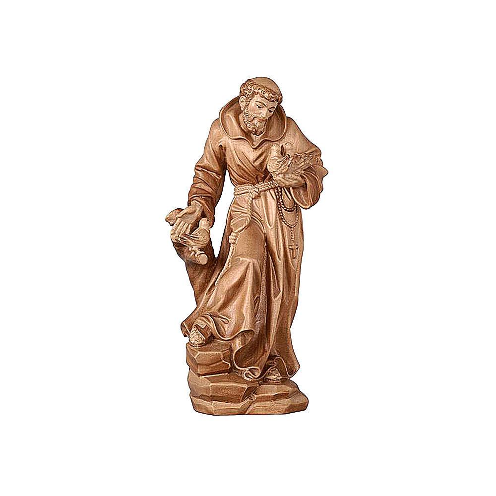Statua San Francesco brunito 3 colori realistico 4