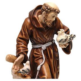 Saint Francis statue coloured realistic style s2