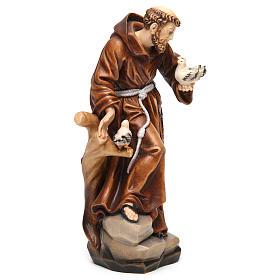 Saint Francis statue coloured realistic style s4