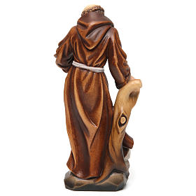 Saint Francis statue coloured realistic style s5