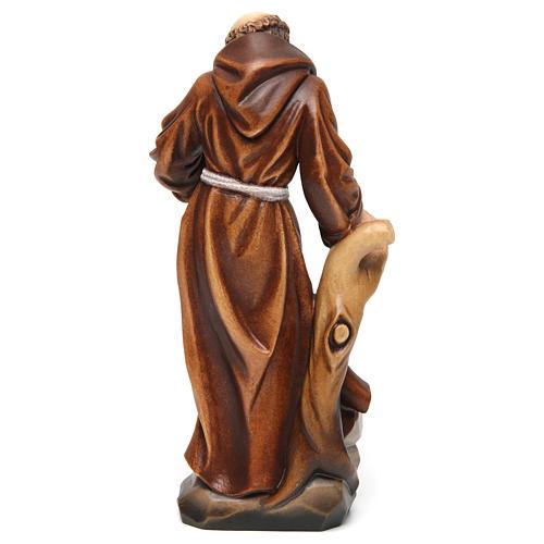 Saint Francis statue coloured realistic style 5