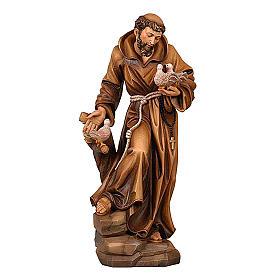 Statua San Francesco colorato realistico s1