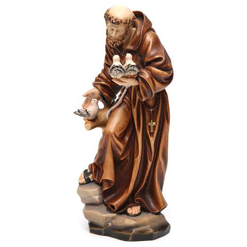 Statua San Francesco colorato realistico 3