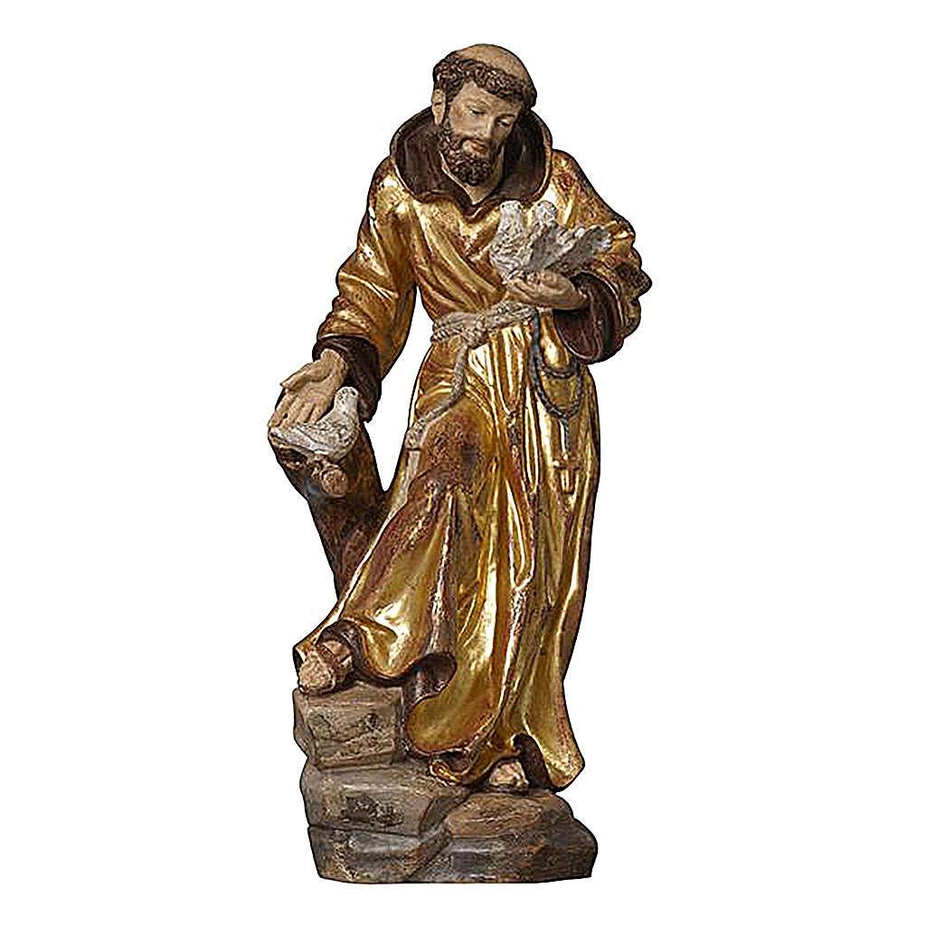 Statua San Francesco manto oro zecchino antico realistico 4