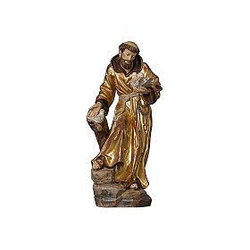 Statua San Francesco manto oro zecchino antico realistico s2