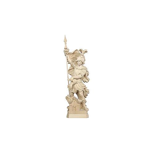 Statua San Floriano legno naturale 2