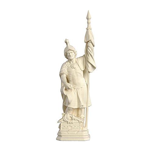 Statua San Floriano legno naturale realistico 1