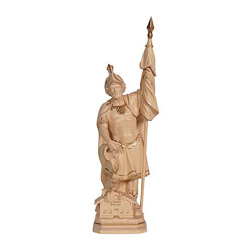 Statua San Floriano realistico cera filo oro 1