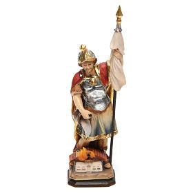 Imágenes de Madera Pintada: Estatua San Florián coloreado