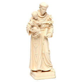 Saint Anthony with Baby Jesus statue in natural wood of Val Gardena s4