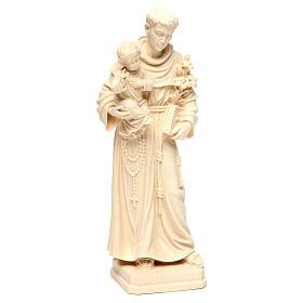 Saint Antoine avec Enfant bois naturel Val Gardena s4