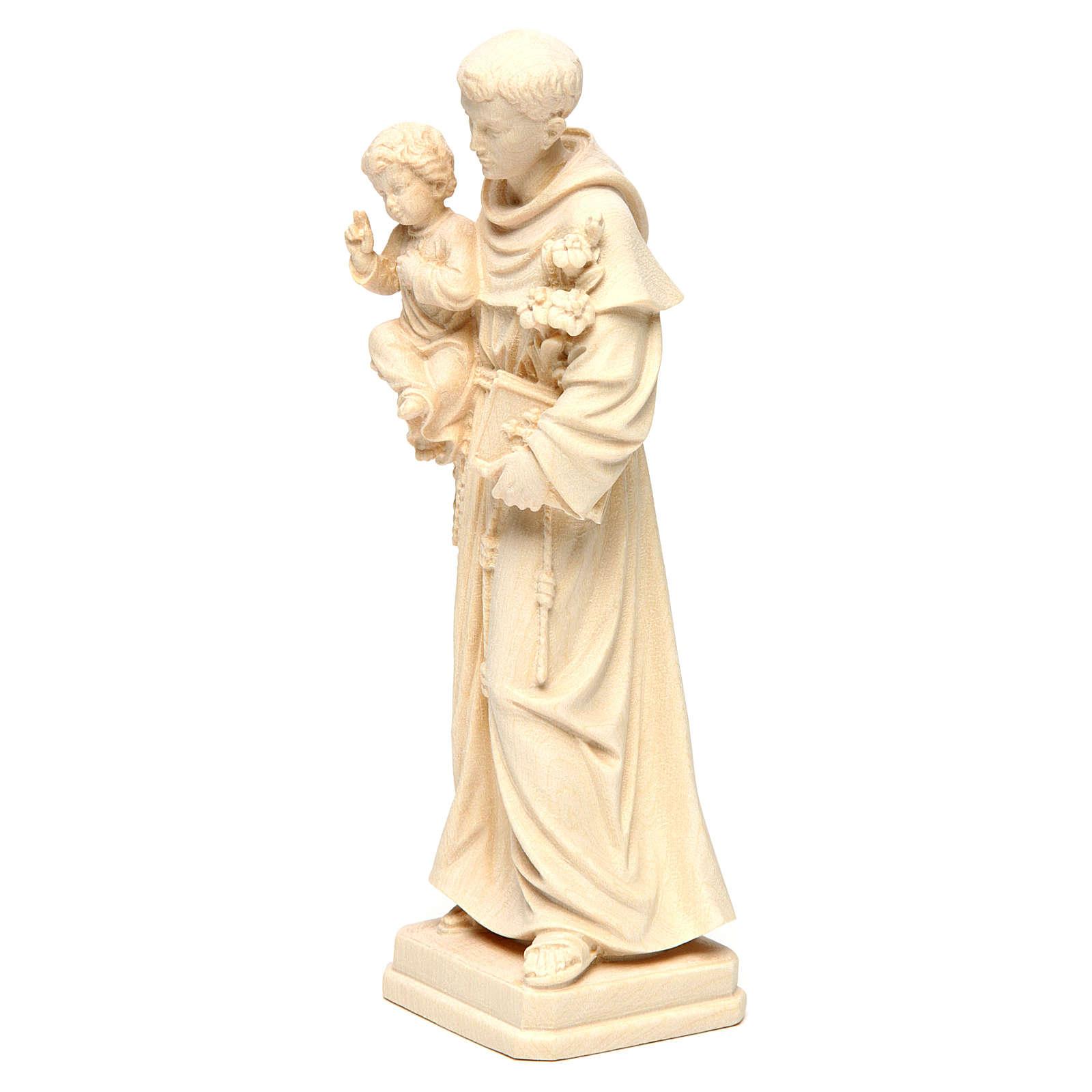 Sant'Antonio con Bambino legno naturale Val Gardena 4
