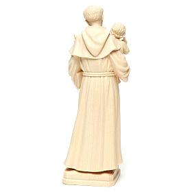 Sant'Antonio con Bambino legno naturale Val Gardena s5