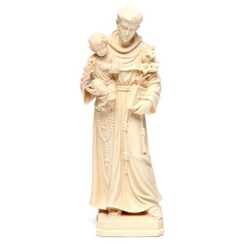Sant'Antonio con Bambino legno naturale Val Gardena 1