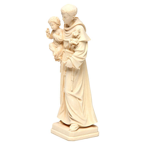 Sant'Antonio con Bambino legno naturale Val Gardena 3