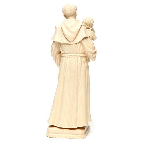 Sant'Antonio con Bambino legno naturale Val Gardena 5
