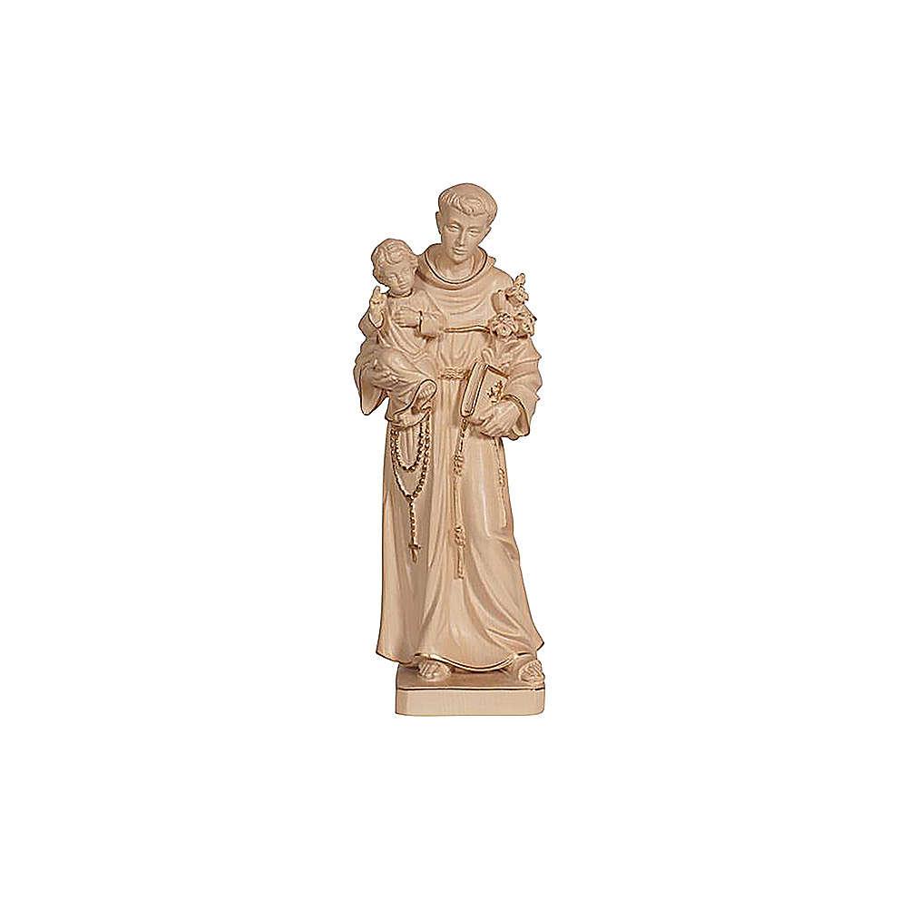 Statua Sant'Antonio con Bambino cera filo oro  4