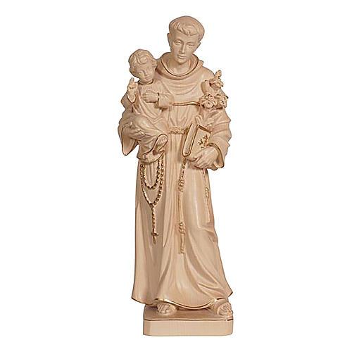 Statua Sant'Antonio con Bambino cera filo oro  1