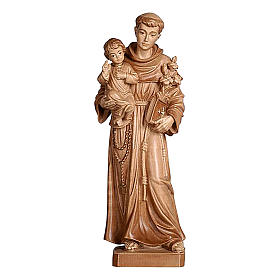 Sant'Antonio con Bambino Val Gardena brunito 3 colori s1