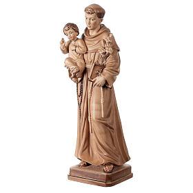 Sant'Antonio con Bambino Val Gardena brunito 3 colori s3
