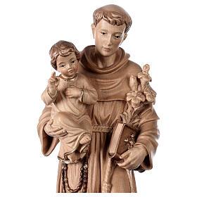 Sant'Antonio con Bambino Val Gardena brunito 3 colori s4