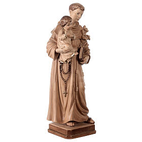 Sant'Antonio con Bambino Val Gardena brunito 3 colori s5