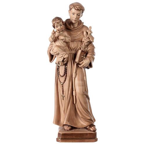 Sant'Antonio con Bambino Val Gardena brunito 3 colori 1